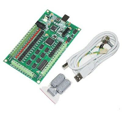 4 Axis Cnc Usb Card Mach3 200khz Breakout Board Interface Ship From Usa