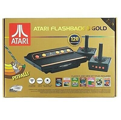 Atari Flashback 8 Gold HD Retro Games Console Wireless Pads (Electronic Games)