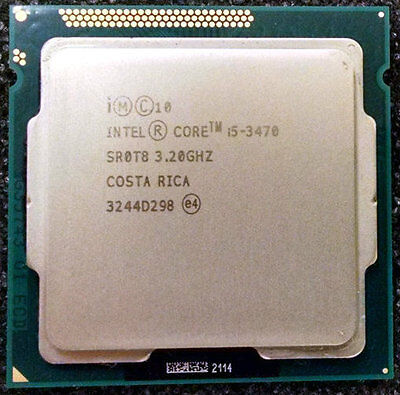 INTEL CORE i5-3470 SR0T8 3.2GHZ 6MB 5GT/s CPU PROCESSOR TESTED WARRANTY
