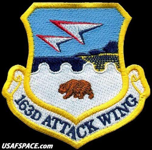 USAF 163RD ATTACK WING - CALIFORNIA MILITIA - MQ-9 REAPER - ORIGINAL VEL PATCH