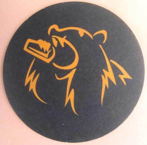 THIRSTYBEAR BREWING Beer COASTER, Mat with BEAR, San Francisco CALIFORNIA