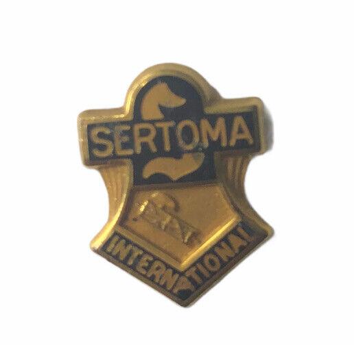 Vintage 10K Gold Filled Sertoma International Organization Tie Tack Lapel Pin