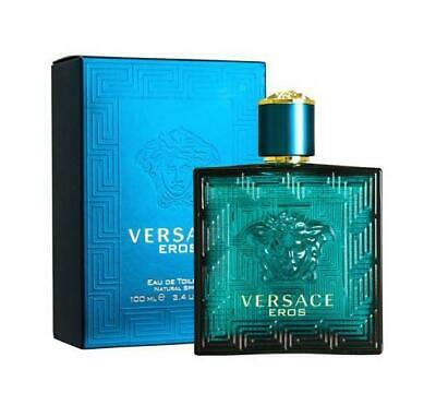 Versace Eros Eau de Toilette Spray for Men, 3.4 Fl Oz, - Brand New!