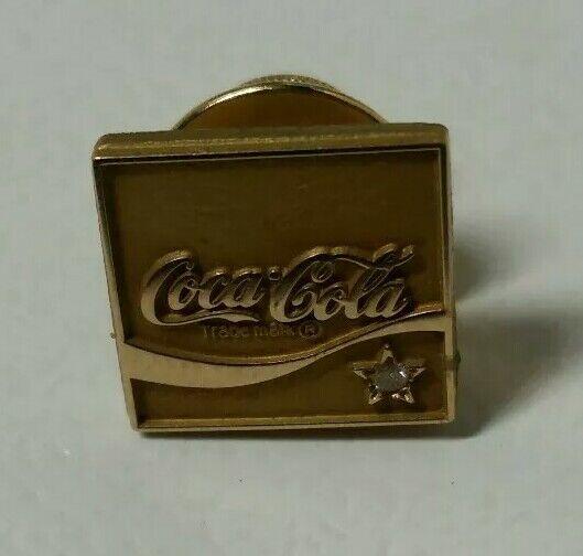 Coca Cola 10k Yellow Gold & Diamond Employee  Service Pin  by Jostens