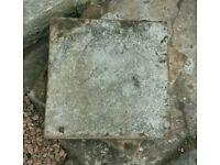 13 small paving slabs