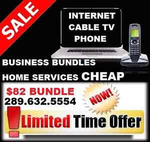 INTERNET UNLIMITED + HD CABLE TV + PHONE $82 , ONLY HERE BUNDLE