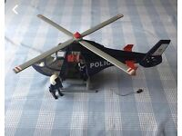 Complete Playmobil police helicopter 5183 in excellent complete condition