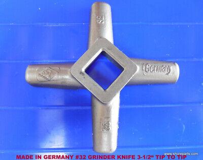 German Made Meat Grinder 32 Knife 3.60 Tip To Tip