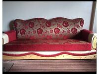 Settees and coffee table