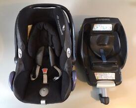 Maxi-cosi baby car seat and easyfix isofix base
