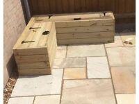 Garden Corner Bench with Storage