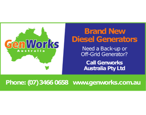 New Diesel Generators 8kVA to 15kVA  240V Off-grid Solar Back-up Raceview Ipswich City Preview