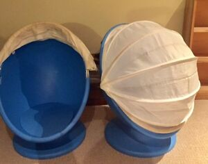 Kids IKEA Swivel Egg Chairs For Sale