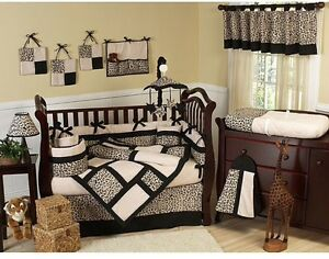 Jojo designs leopard crib set