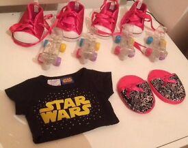 Stockbridge, Edinburgh - Build-A-Bear Workshop Lot 4xSkates 4xShoes Star Wars Shirt Slippers Lead