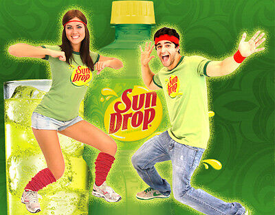 Adult Juniors Citrus Soda Pop Sun Drop Sundrop Commercial T-Shirt Costume - Sun Drop Costumes