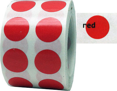 Colored Transparent Dot Stickers 12 Inch Round 1000 Labels 7 Color Choices