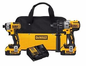 Dewalt (DCK299M2) 20-Volt MAX Lithium-Ion Brushless Hammer Drill and Impact Driver Combo Kit (BRAND NEW) $329.99