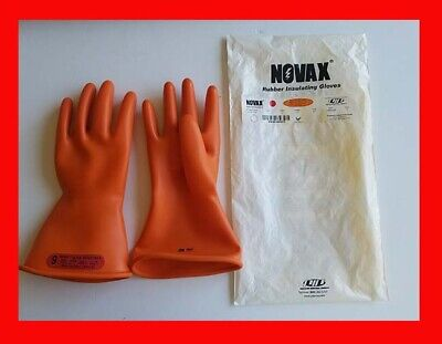 Novax Rubber Insulating Gloves Size 9 Class 0 Max Use Volts 1000 V Ac New