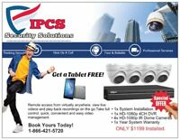 FREE Tablet with Security Camera System