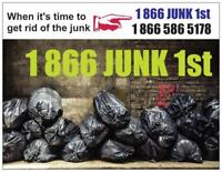It's a wonderful day for junk removal 1877-645-5043..