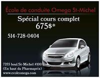 Cours de conduite complet en spécial 675$!