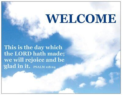 5, 25 or 100 Welcome Postcards-Christian Bible Scripture Verse-Church Invitation](Postcard Invitations)