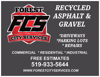 RECYCLED ASPHALT & GRAVEL DRIVEWAYS & PARKING LOTS