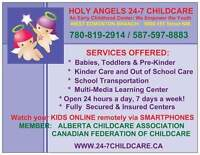NEW HOLY ANGELS 24-7 CHILDCARE CENTER - WEST & NORTH EDMONTON
