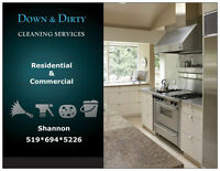 Down & Dirty cleaning services