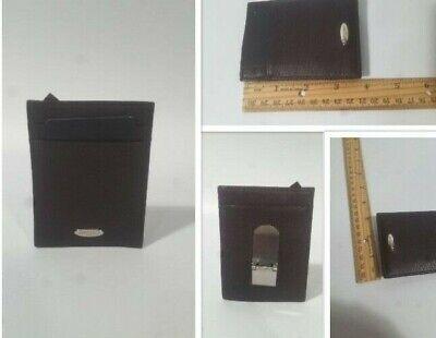 Samsonite Leather Card Holder Pocket Wallet Black Money Clip Card Holder | NWOT