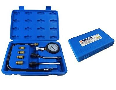BERGEN Pro PETROL ENGINE COMPRESSION TESTER KIT / CYLINDER LEAKAGE TEST TOOL