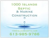 Dock repairs, barge service, Island septic