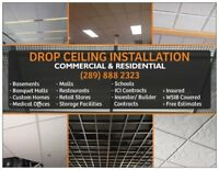 Commercial & Residential Drop Ceiling Installation