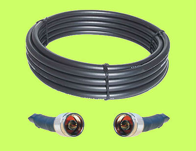RF400 Ham Radio Repeater GPS UHF VHF LMR400 Compatible Antenna Coax Cable 100 ft