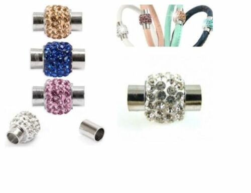 5Sets-Rhinestone-Glue-in-Leather-Kumihimo-Magnetic-Clasp-11-12-13-14mm