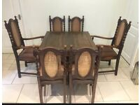 Vintage English Oak Dinning Table and Chairs plus Sideboard/Dresser Circa 1900