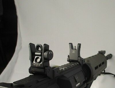 Low Profile Set - UTG Low Profile Flip-up BUIS Sight Set Folding Iron Sights Weaver Rail Mount
