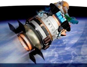 Arctus-Spacehab-NASA-Spacecraft-Mahogany-Wood-Model-Small-New