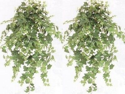 2 Ivy Bush 40 Artificial Garland Plant Silk Oxford Swag English Flower Floral 2