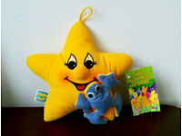 Star and frog plush soft toy