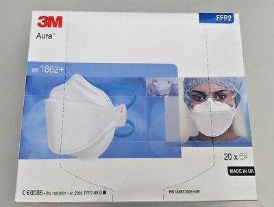 EB - 3M Atemschutzmaske - ohne Ventil Aura FFP2 - REF 1862+ - PZN 09328096