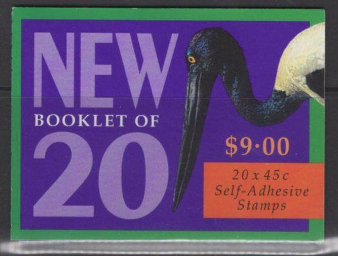 AUSTRALIA SGSB124 1998 WETLAND BIRDS BOOKLET MNH