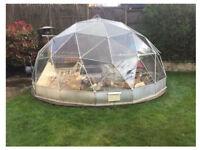 Solardome Geodesic Dome Greenhouse ( many broken panes)