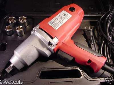 """1/2 """" Dr Electric IMPACT WRENCH TOOL 240 # Torque with sockets and case no air"""
