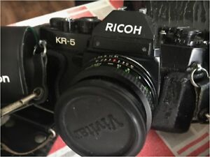 VINTAGE RICOH KR 5 Camera and accessories