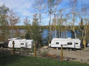 Seasonal Trailer Park rental camping Thunder Bay Kashabowie
