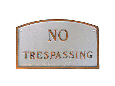 No Trespassing ARCH Statement Plaque Wall or Lawn 3 Sizes 24 Colors Warning Sign (Arch Lawn Plaque)