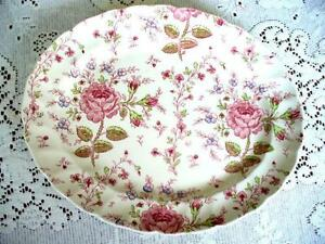 "Johnson Bros. Rose Chintz 12"" Platter"