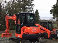 Skidsteer and Mini Excavator for rent